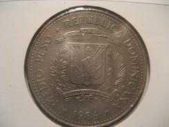 Medio Peso 1986 REPUBLICA DOMINICANA Coin - Dominicana