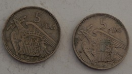 SPAGNA – 50 PESETAS – 1957 – 2 MONETE – (115) - [ 5] 1949-… : Royaume