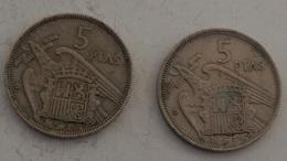 SPAGNA – 50 PESETAS – 1957 – 2 MONETE – (115) - [ 5] 1949-… : Regno