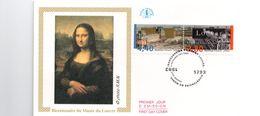 FDC Enveloppe 1er Jour Bicentenaire Du Musée Du Louvre  Joconde Paris 20/11/1993  (Y-T 2852 A Et B) - FDC