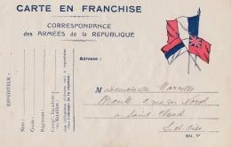 Correspondance Des Armées . Carte à Système Avec Algues Au Verso - WW I