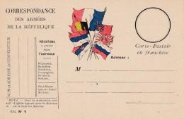 Carte Correspondance Militaire Neuve 7 Drapeaux - Poststempel (Briefe)