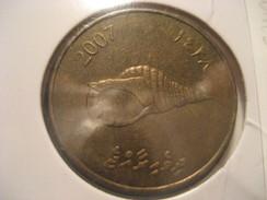 2 Rufiyaa 2007 Shell MALDIVES Coin - Maldives