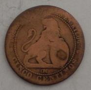 SPAGNA - CINCO CENTIMOS – (112) - [ 1] …-1931 : Regno