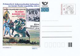 Tschech. Rep. / Ganzsachen (Pre2012/36) Industrie-Schmalspurbahnen; Industrielle Eisenbahn Mladejov - 1. Weltkrieg