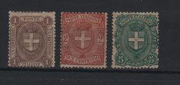 1896-97 Stemma Di Savoia Serie Cpl MNH - 1861-78 Victor Emmanuel II.