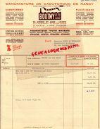 54- NANCY- LAXOU -FACTURE MANUFACTURE CAOUTCHOUC- MACANA- BOUTMY -1962 - Petits Métiers