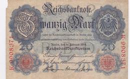 Reichsbanknote 1914 - 20 Mark