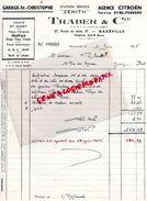 54- MAXEVILLE- RARE FACTURE TRABER -GARAGE SAINT CHRISTOPHE-AGENCE CITROEN-DYNA PANHARD- ZENITH- 1965 - Cars
