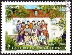 Oblitération Cachet à Date Sur Timbre De France N° 4852 Rafle Des Enfants Juifs D'Izieu - France
