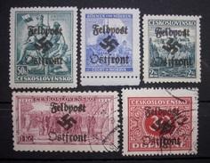 Dt.Reich Occupation Tschechoslowakei Aufdruck Feldpost Postfrisch&Gestempelt    (R550) - Ocupación 1938 – 45