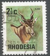 Rhodesia. 1974 Antelopes, Wild Flowers & Butterflies. 2½c Used SG 490 - Rhodesia (1964-1980)