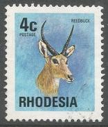 Rhodesia. 1974 Antelopes, Wild Flowers & Butterflies. 4c Used SG 492 - Rhodesia (1964-1980)