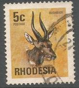 Rhodesia. 1974 Antelopes, Wild Flowers & Butterflies. 5c Used SG 493 - Rhodesia (1964-1980)