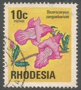 Rhodesia. 1974 Antelopes, Wild Flowers & Butterflies. 10c Used SG 497 - Rhodesia (1964-1980)