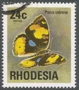 Rhodesia. 1974 Antelopes, Wild Flowers & Butterflies. 24c Used SG 504 - Rhodesia (1964-1980)