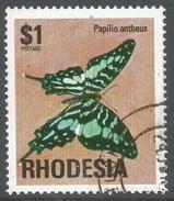 Rhodesia. 1974 Antelopes, Wild Flowers & Butterflies. $1 Used SG 507 - Rhodesia (1964-1980)