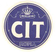 Luggage Label / Etiquette Bagage - CIT Roma - Self Adhesive - Etiquettes D'hotels
