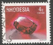 Rhodesia. 1978 Gemstones, Wild Animals And Waterfalls. 4c Used SG 557 - Rhodesia (1964-1980)