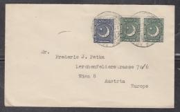 Pakistan  1953  MAURIPUR  AIRFIELD  3v  Cover To  Austria  #  04901    D - Pakistan