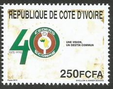 Côte D'Ivoire 2015 40th Anniversary CEDEAO ECOWAS Mint MNH - Gezamelijke Uitgaven