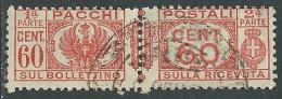 1927-32 REGNO USATO PACCHI POSTALI 60 CENT - I29-3 - 1900-44 Victor Emmanuel III