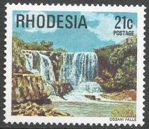 Rhodesia. 1978 Gemstones, Wild Animals And Waterfalls. 21c MH SG 565 - Rhodesia (1964-1980)