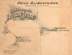 030118  VIEUX PAPIER - 31 VILLEMUR Usine Pâtes Alimentaires Ets BRUSSON Jeune Semoule Tapioca - Frankreich