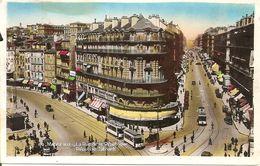 13. CPSM. Bouches-du-Rhône. Marseille. La Rue De La République (Républic Street, Animée, Autos, Trams) - Quartiers Sud, Mazargues, Bonneveine, Pointe Rouge, Calanques