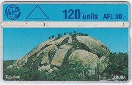 ARUBA A-054 Hologram Setar - Landscape, Rock - 405D - Used - Aruba