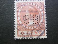 NEDERLANDE   , Firmenlochung,perfin - 1891-1948 (Wilhelmine)