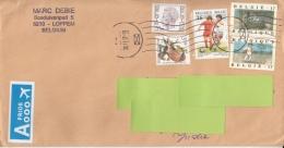 Belgium  2017  Mailed Cover To India  # 04856  D - Belgium
