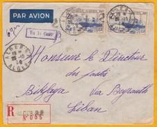 1939 - Enveloppe Recommandée Par Avion D' Alger RP Vers Biklaya Via Beyrouth, Liban - Censure - Algeria (1924-1962)