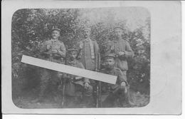 1915 Infanterie Allemande Soldats Du I.R 59 Avec Cartouchières D'allègement Patronentragekurt 1carte Photo 14-18 Ww1 1wk - Guerra, Militari