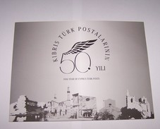 2014 Turkey 50th Year Of Cyprus Turk Posts Portfolio Special Numbered Imperforate Sheet & MNH & FDC! Islam Mosque Muslim - Nuevos