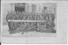 1918 Soldats Allemands Peloton De Mitrailleurs Mitrailleuse MG 08/15 Lubeck 1 Carte Photo 14-18 Ww1 1wk - War, Military