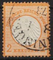 """Mi-Nr. 15, """"kl. Brustschild"""", Gut Gezähnt, Klarer K1 """"Meiningen"""", O - Deutschland"""