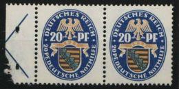 """Mi-Nr. MH Bl. 44A, Seltenes Heftchenblatt """"Nothilfe"""", 1925, Rand Mit Haftstelle, Marken, ** - Zusammendrucke"""
