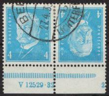 """Mi-Nr. K9 HAN 2.2, """"Hindenburg"""", Kehrdruck Mit HAN, Sauber Gestempelt, Selten, O - Zusammendrucke"""