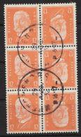 """Mi-Nr. K13, """"Hindenburg"""", 3x Mit 6er Block Zusammenhängend, Selten, O - Zusammendrucke"""