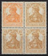 """Mi-Nr. W10 """"Germania"""", Seltener Zusammendruck Mit 4erBlock Falzreste, **,* - Zusammendrucke"""