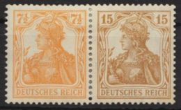 """Mi-Nr. W10a, """"Germania"""", Seltener Waag. ZD, Erstfalz, * - Zusammendrucke"""