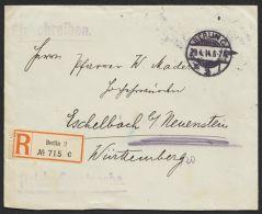 """""""Auswärtiges Amt"""", Reichsdienstsache Als R-Brief  Mit Inhalt, """"Berlin"""", 29.4.14 - Dienstpost"""
