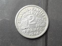 2 Francs Etat Francais 1944 C - Frankrijk