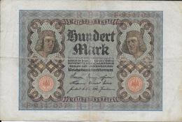 Billet Allemand. Hundert Mark. 100 - [ 3] 1918-1933 : Repubblica  Di Weimar