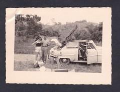 Photo Originale Vintage Snapshot Congo Belge Opel Rekord Pique Nique - Cars