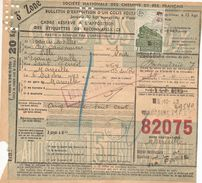 Bulletin D'expédition N° :  82075  Avec  Timbre(s)  N° 206  - 187 - 188   GD - Lettres & Documents