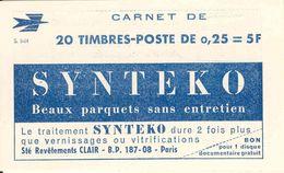 FRANCE - BOOKLET / CARNET, Yvert 1263-c4, 1964, 20x0.25 Marianne De Decaris - Carnets