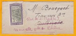 1906 - N° 94 - 1c Violet Et Olive Transport En Filanzane Sur Bande De Journal  Vers Antsirabe, Madagascar - Lettres & Documents