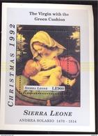 SIERRA LEONE  1596 MINT NEVER HINGED SOUVENIR SHEET ART-PAINTINGS ANDREA SOLARIO ; CNRISTMAS '92 - Rembrandt